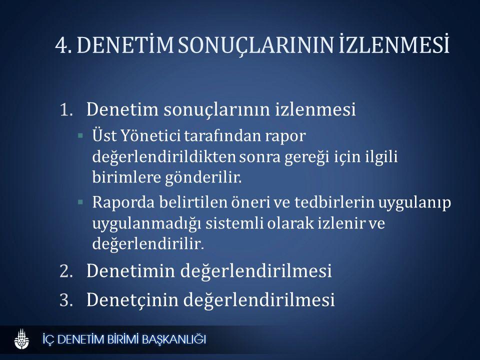 4.DENETİM SONUÇLARININ İZLENMESİ 1.