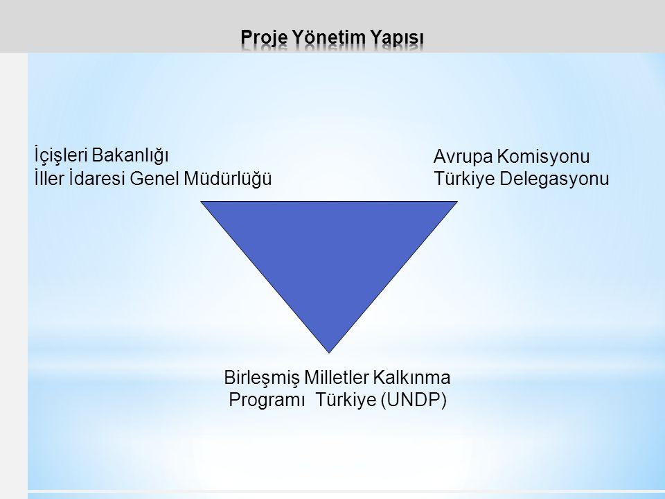 İçişleri Bakanlığı İller İdaresi Genel Müdürlüğü Avrupa Komisyonu Türkiye Delegasyonu Birleşmiş Milletler Kalkınma Programı Türkiye (UNDP)