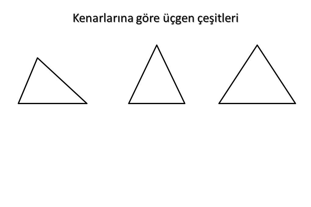 Kenarlarına göre üçgen çeşitleri