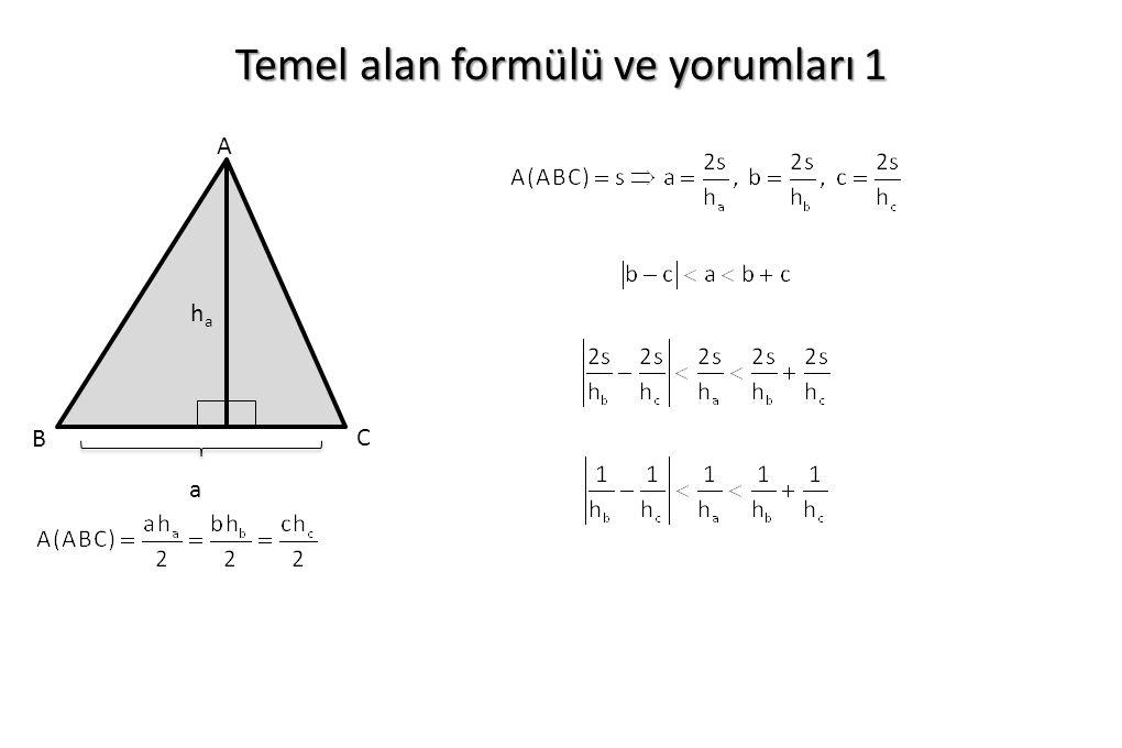 Temel alan formülü ve yorumları 1 haha a A B C