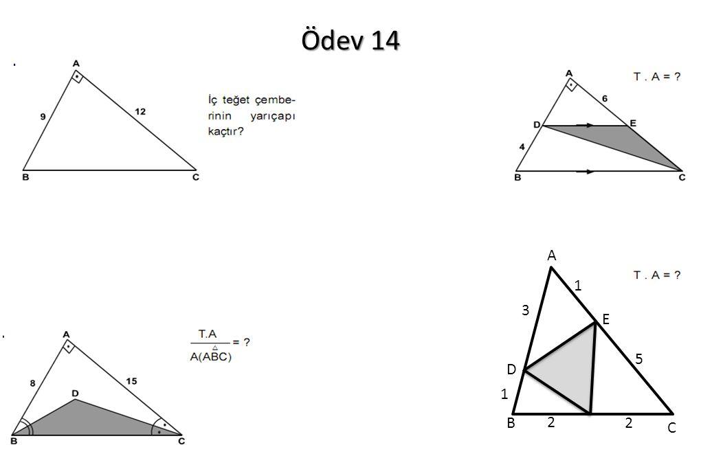 Ödev 14 A B C D E 3 1 1 2 2 5