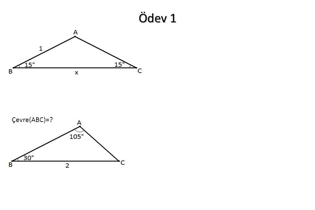 Ödev 1 Çevre(ABC)=?
