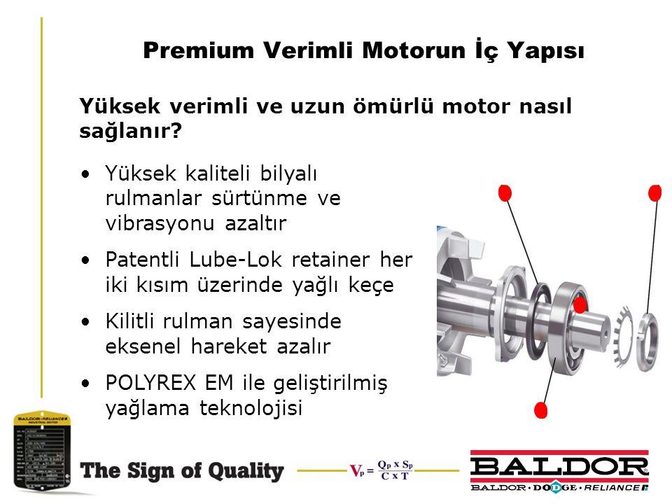 Premium Verimli Motorun İç Yapısı Yüksek kaliteli bilyalı rulmanlar sürtünme ve vibrasyonu azaltır Patentli Lube-Lok retainer her iki kısım üzerinde y