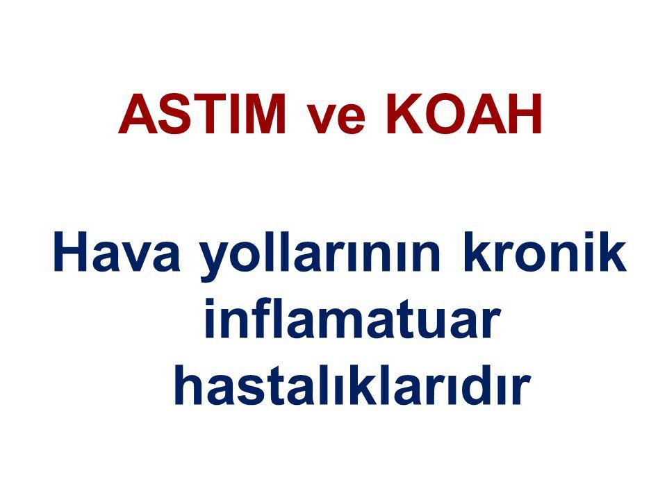 ASTIM ve KOAH Hava yollarının kronik inflamatuar hastalıklarıdır