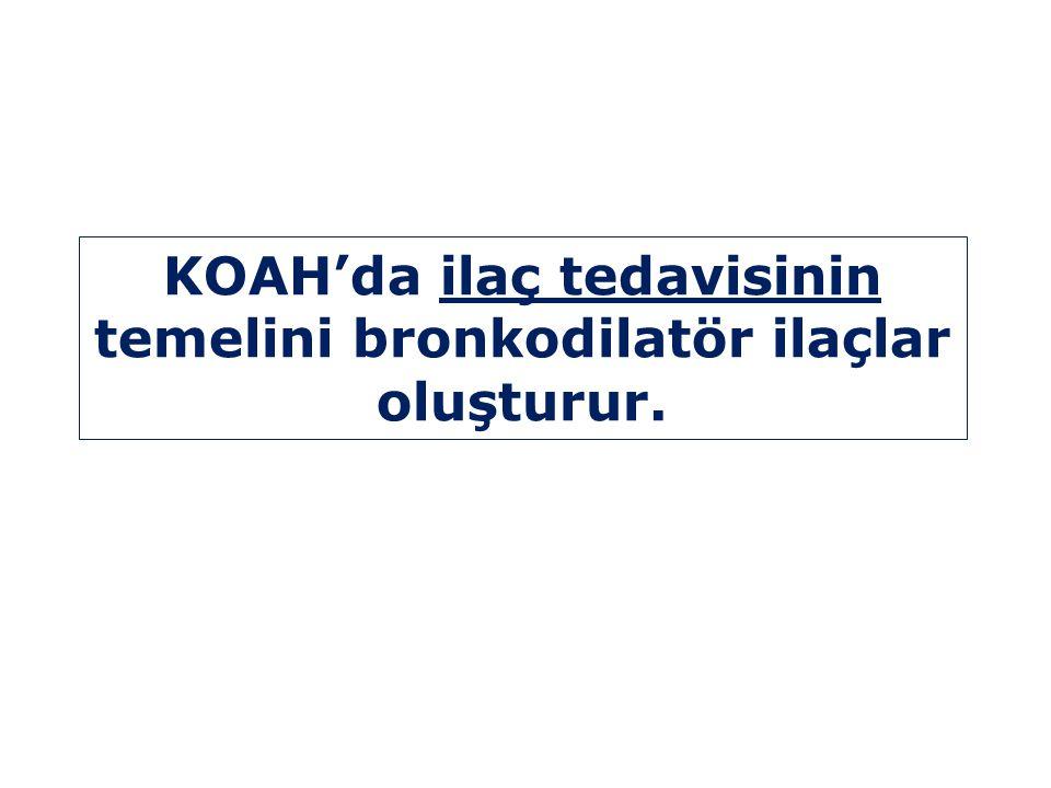 KOAH'da ilaç tedavisinin temelini bronkodilatör ilaçlar oluşturur.