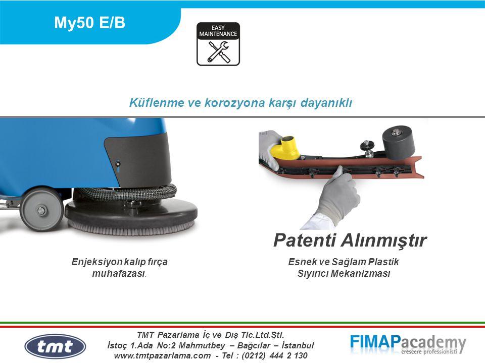 My50 E/B Küflenme ve korozyona karşı dayanıklı Enjeksiyon kalıp fırça muhafazası. Esnek ve Sağlam Plastik Sıyırıcı Mekanizması Patenti Alınmıştır TMT