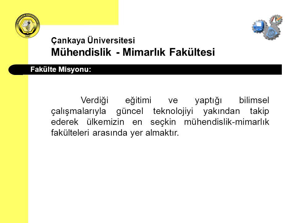 Çankaya Üniversitesi Mühendislik - Mimarlık Fakültesi Bilgisayar Mühendisliği Bölümü Yönetim: Araş.