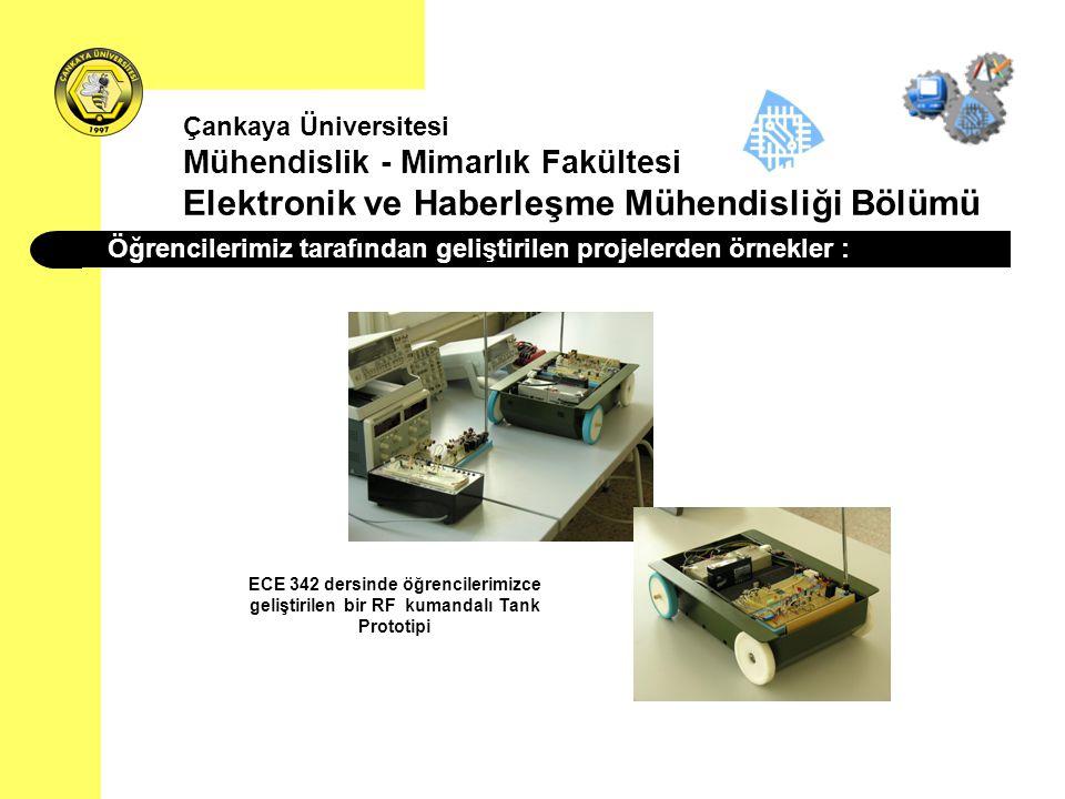 Öğrencilerimiz tarafından geliştirilen projelerden örnekler : Çankaya Üniversitesi Mühendislik - Mimarlık Fakültesi Elektronik ve Haberleşme Mühendisl