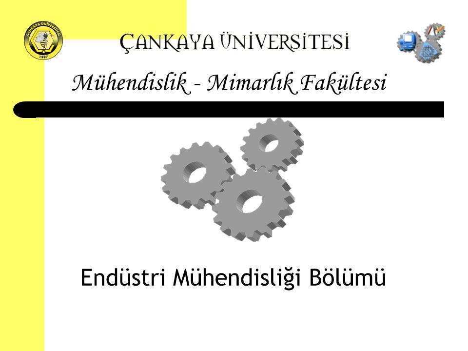 Mühendislik - Mimarlık Fakültesi Endüstri Mühendisliği Bölümü