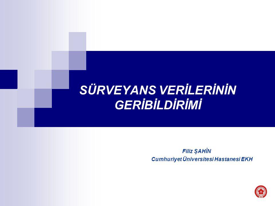SÜRVEYANS VERİLERİNİN GERİBİLDİRİMİ Filiz ŞAHİN Cumhuriyet Üniversitesi Hastanesi EKH