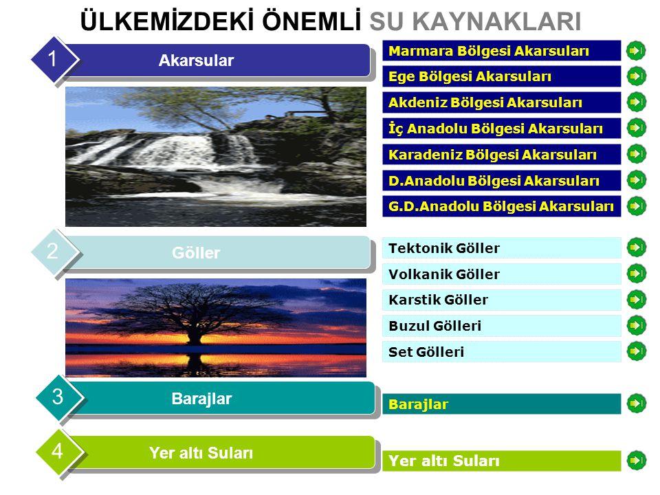 Akarsular Marmara Bölgesi Akarsuları Ergene Çayı Susurluk NehriGönen Çayı Sakarya Irmağı Susurluk Nehri Sakarya Irmağı