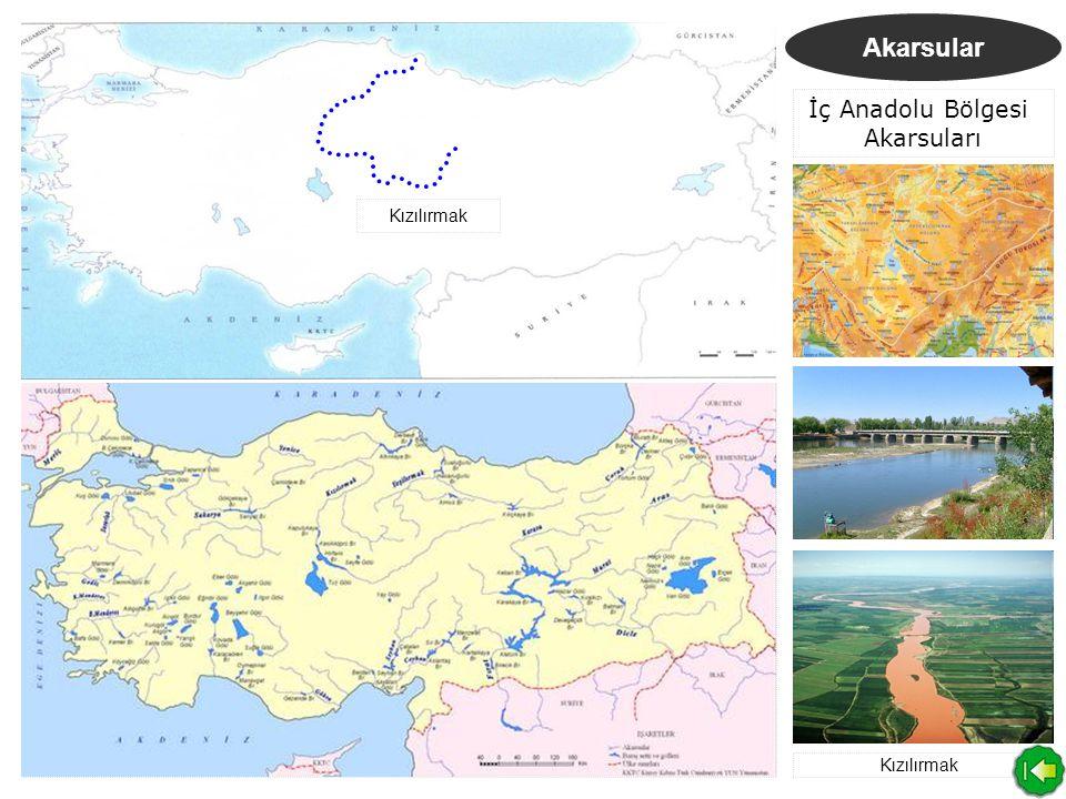 Akarsular Karadeniz Bölgesi Akarsuları Kızılırmak Yenice Irmağı Yeşilırmak Çoruh Nehri Yeşilırmak Çoruh Nehri