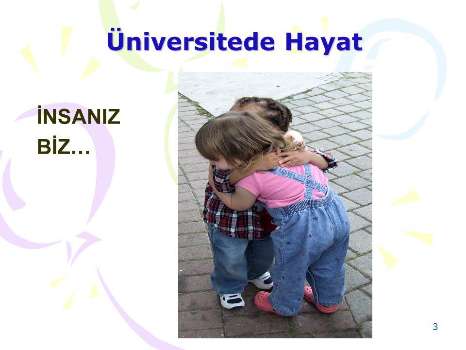 3 Üniversitede Hayat İNSANIZ BİZ…