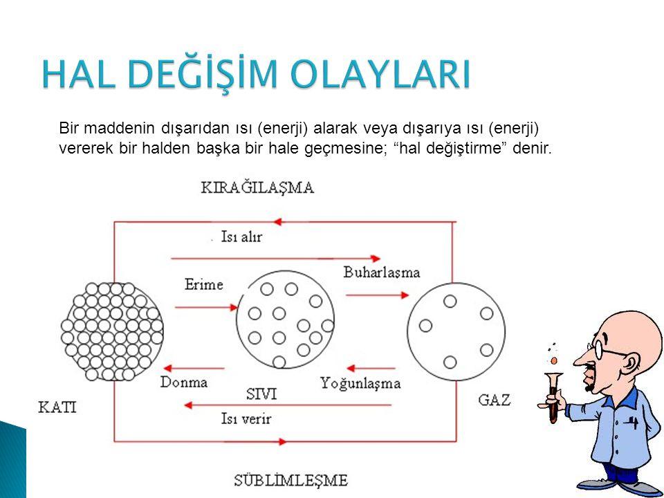  Maddenin iç yapısı ile ilgili olan özellikler kimyasal özelliklerdir.