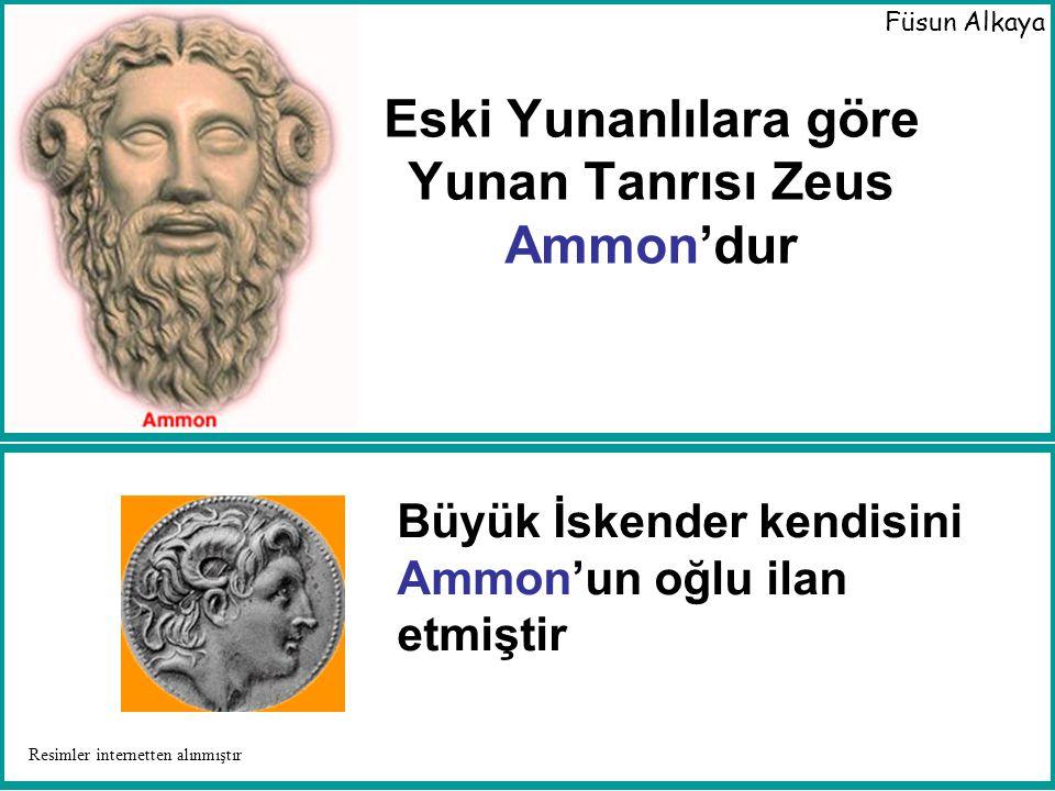 Mısır Tanrı'sı Ammon'nun koç boynuzu gibi boynuzları vardı.
