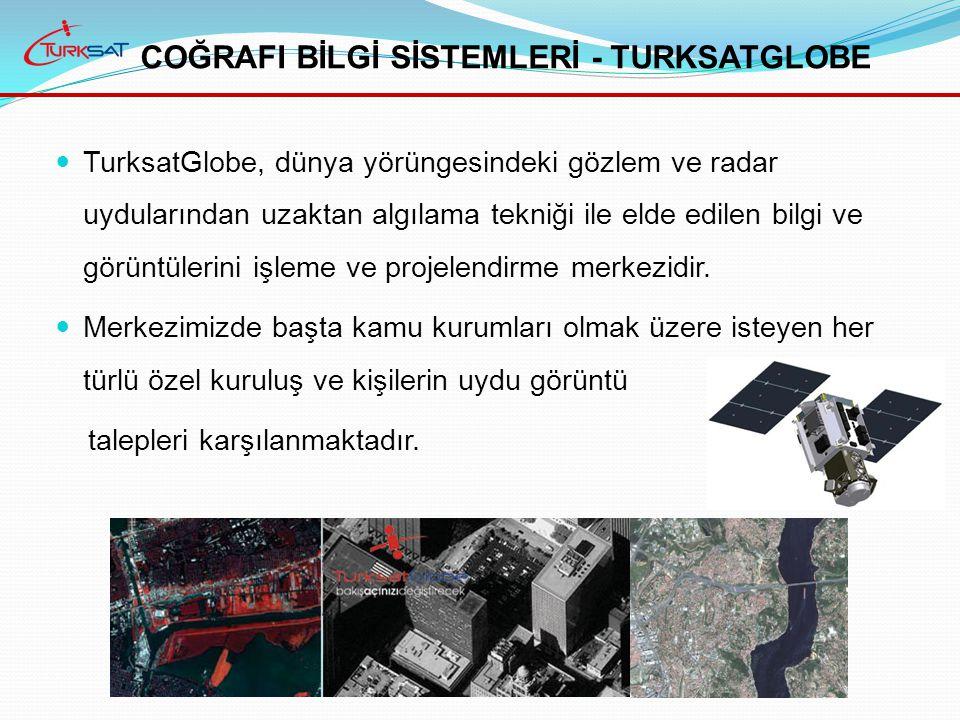 TurksatGlobe, dünya yörüngesindeki gözlem ve radar uydularından uzaktan algılama tekniği ile elde edilen bilgi ve görüntülerini işleme ve projelendirme merkezidir.