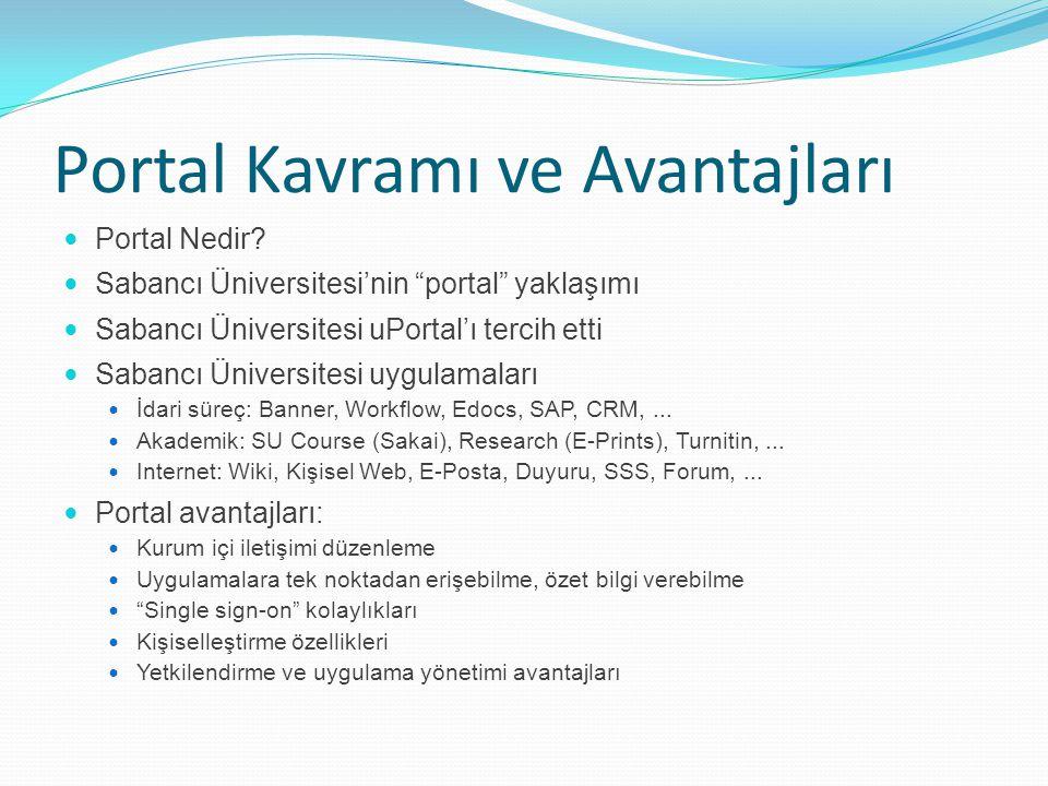 """Portal Kavramı ve Avantajları Portal Nedir? Sabancı Üniversitesi'nin """"portal"""" yaklaşımı Sabancı Üniversitesi uPortal'ı tercih etti Sabancı Üniversites"""