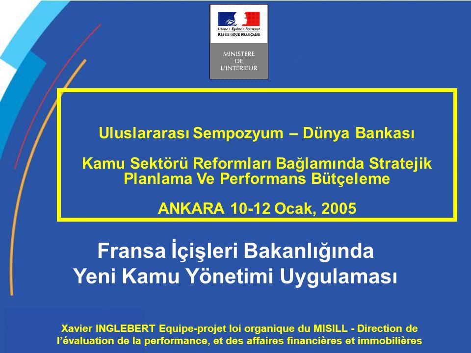 XI/EPLO-MI/DEPAFI Xavier INGLEBERT Equipe-projet loi organique du MISILL - Direction de l'évaluation de la performance, et des affaires financières et