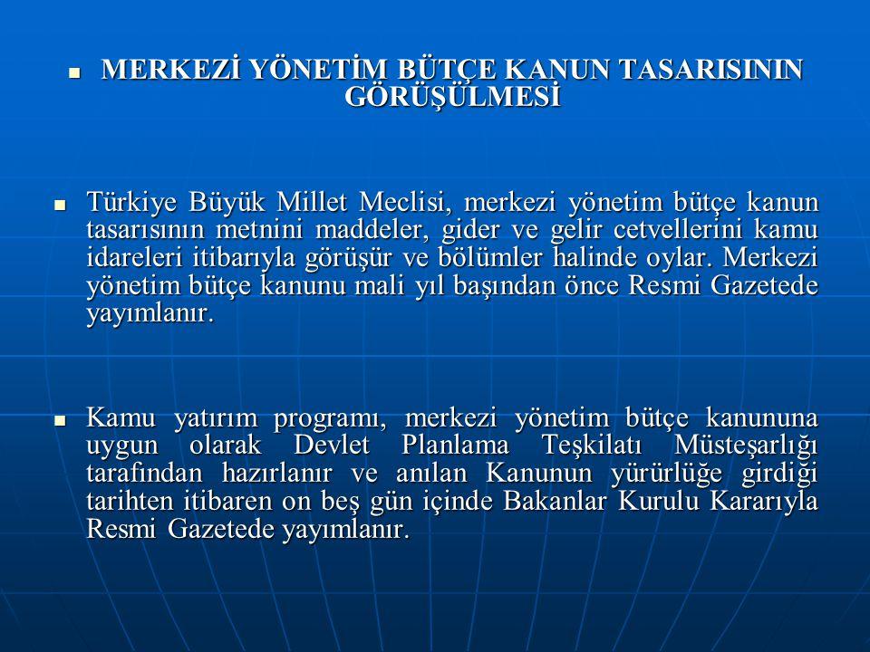 MERKEZİ YÖNETİM BÜTÇE KANUN TASARISININ GÖRÜŞÜLMESİ MERKEZİ YÖNETİM BÜTÇE KANUN TASARISININ GÖRÜŞÜLMESİ Türkiye Büyük Millet Meclisi, merkezi yönetim