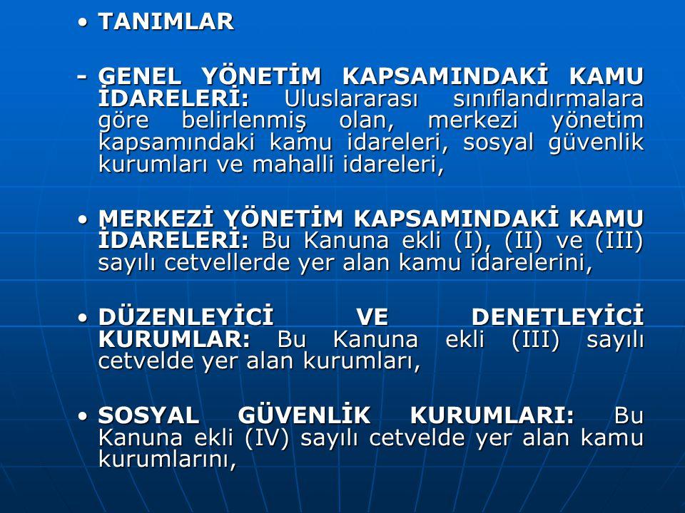 GENEL UYGUNLUK BİLDİRİMİ GENEL UYGUNLUK BİLDİRİMİ Sayıştay, merkezi yönetim kapsamındaki kamu idareleri için düzenleyeceği genel uygunluk bildirimini, kesin hesap kanun tasarısının verilmesinden başlayarak en geç yetmiş beş gün içinde Türkiye Büyük Millet Meclisine sunar.