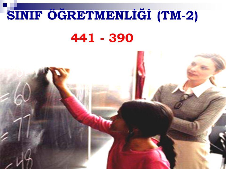 SINIF ÖĞRETMENLİĞİ (TM-2) 441 - 390