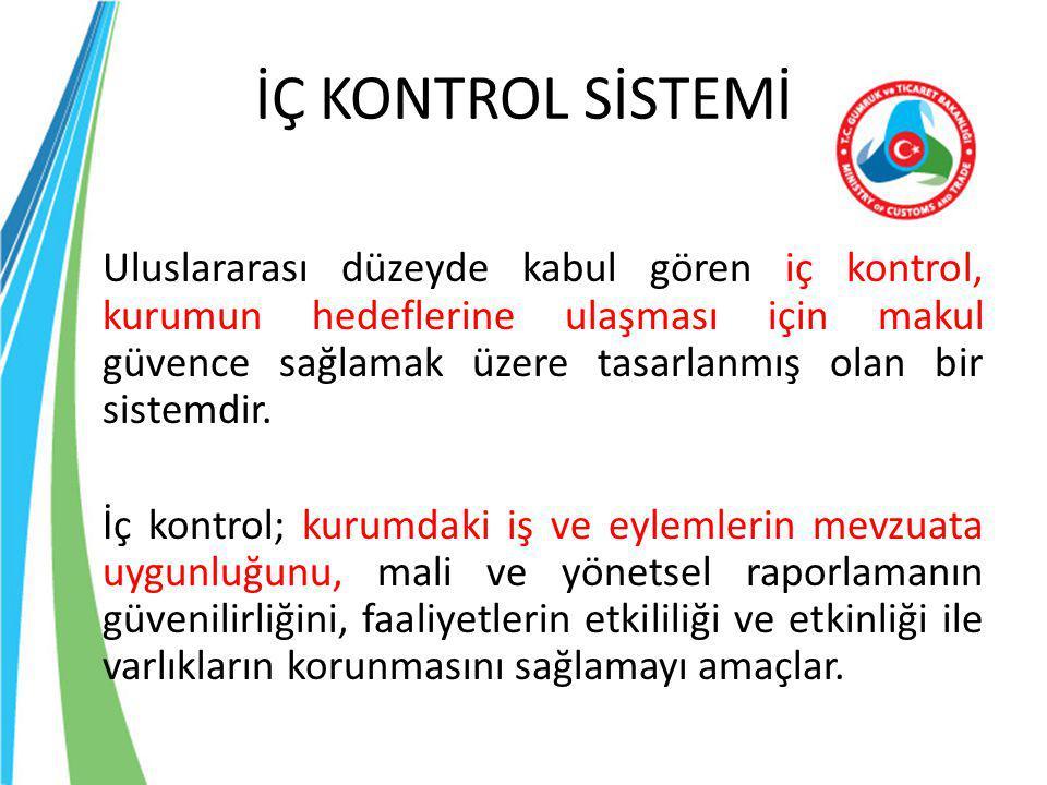 İÇ KONTROL SİSTEMİ Özetle; Daha iyi bir yönetim için, karar alma ve uygulama süreçlerini desteklemek ve böylece kamu kaynaklarının rasyonel kullanımını sağlamaktır.