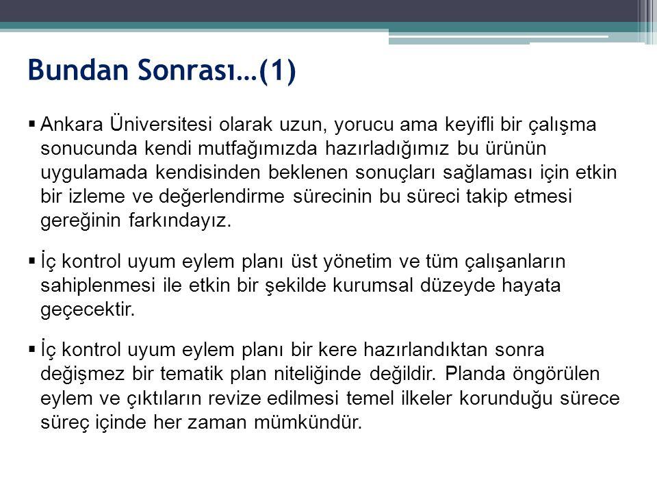 Bundan Sonrası…(1)  Ankara Üniversitesi olarak uzun, yorucu ama keyifli bir çalışma sonucunda kendi mutfağımızda hazırladığımız bu ürünün uygulamada