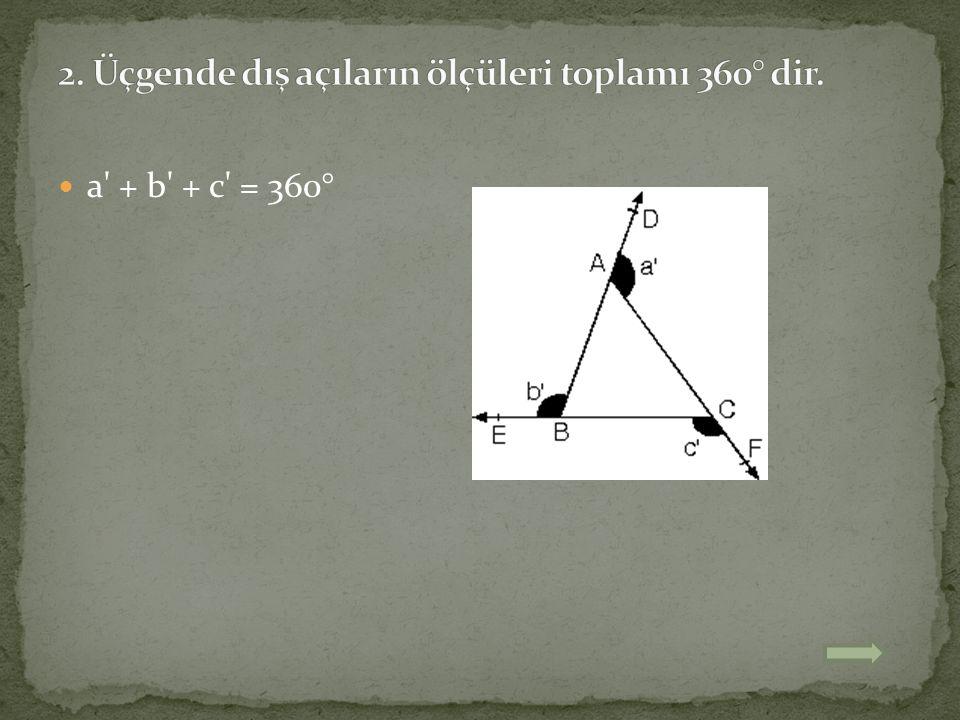 a' + b' + c' = 360°