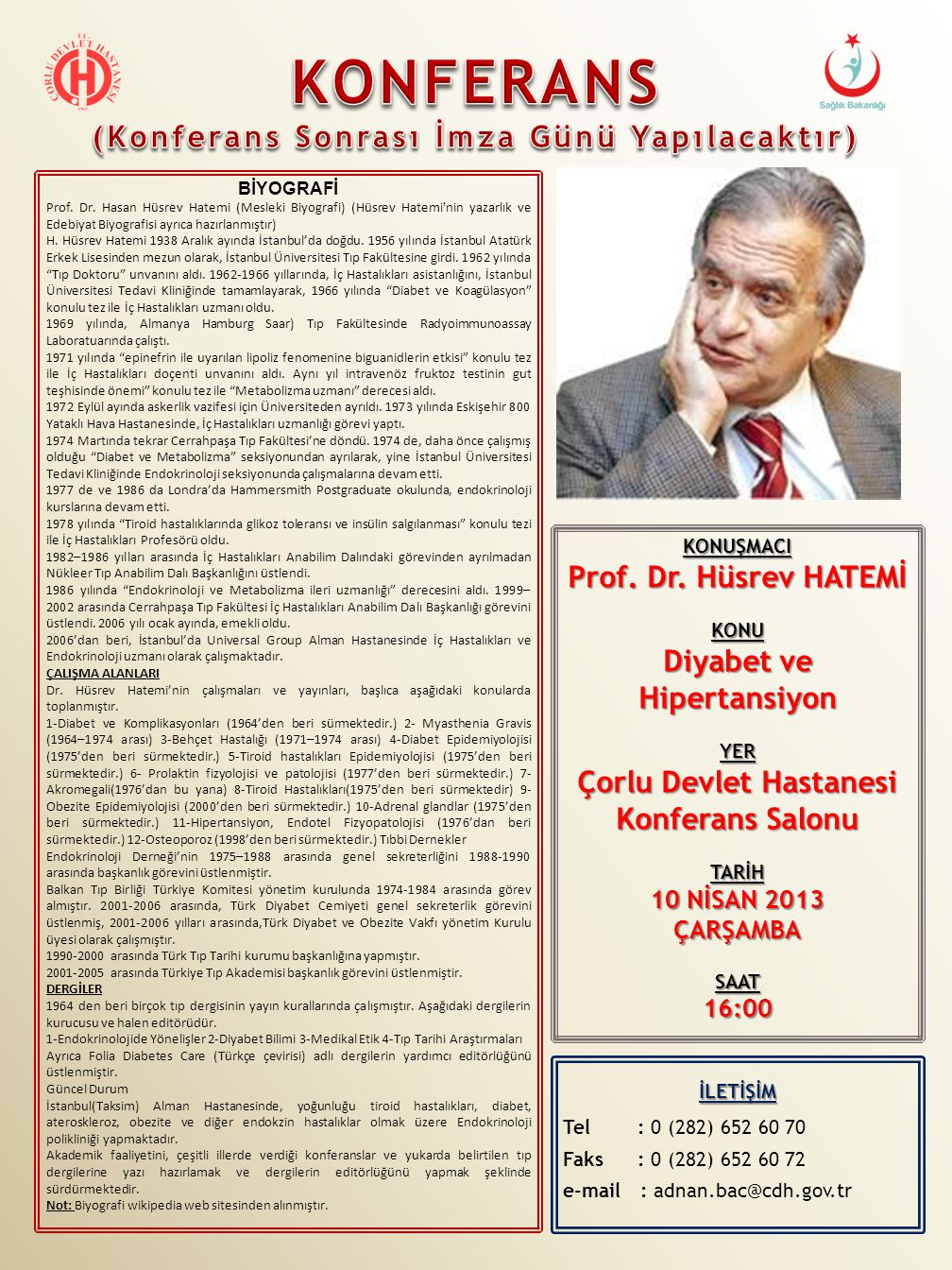 KONUŞMACI Prof.Dr.