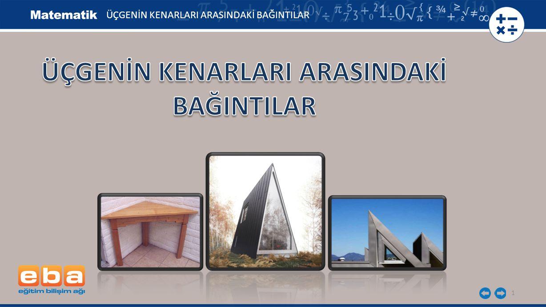 2 Kenar uzunlukları ve iç açı ölçüleri verilen üçgenin kenar uzunlukları arasındaki ilişkiyi bulalım.