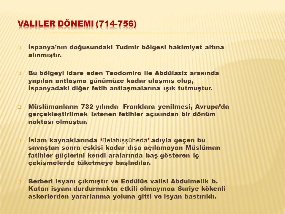  İspanya'nın doğusundaki Tudmir bölgesi hakimiyet altına alınmıştır.  Bu bölgeyi idare eden Teodomiro ile Abdülaziz arasında yapılan antlaşma günümü