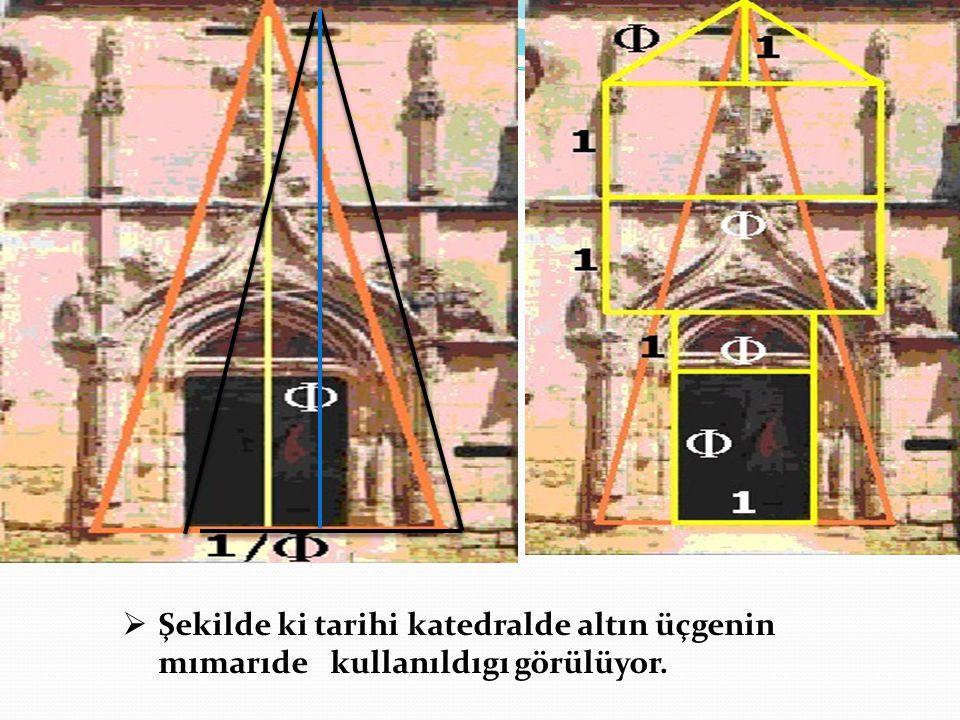 ŞŞekilde ki tarihi katedralde altın üçgenin mımarıde kullanıldıgı görülüyor.