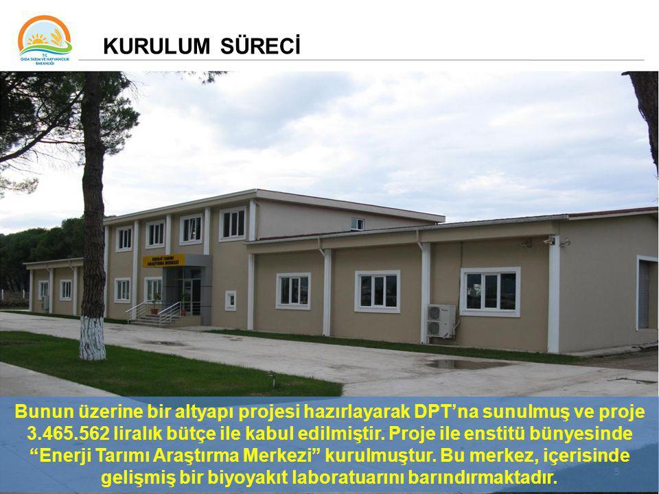 5 Bunun üzerine bir altyapı projesi hazırlayarak DPT'na sunulmuş ve proje 3.465.562 liralık bütçe ile kabul edilmiştir.