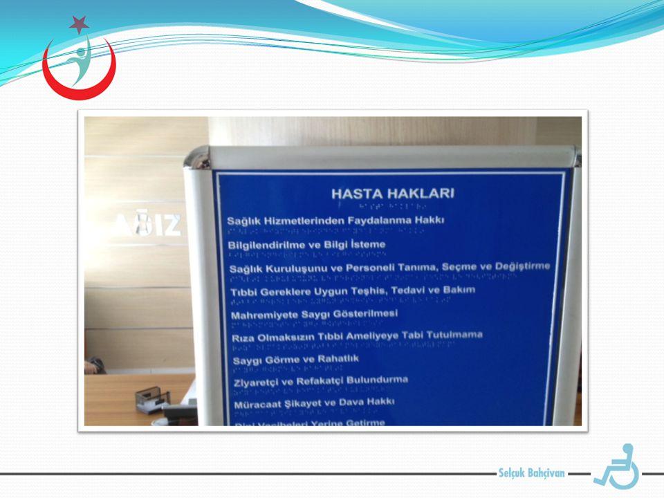Engelli WC: Standartlara uygun ve engelli girişine yakın bir mevkide yer almaktadır.