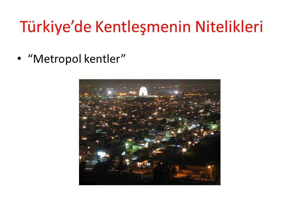 """Türkiye'de Kentleşmenin Nitelikleri """"Metropol kentler"""""""