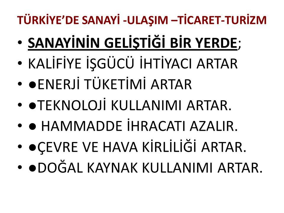 2009 ÖSS: Türkiye'nin ulaşımla ilgili aşağıdaki özelliklerinden hangisi coğrafi konumunun bir sonucudur.