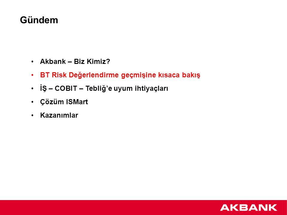 BT Risk Değerlendirme geçmişine kısaca bakış 2000 yılından beri risk değerlendirme sistemi bulunmaktadır.