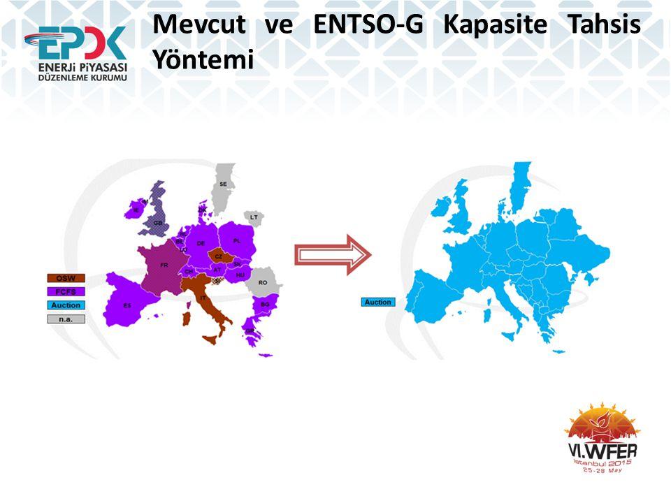 Mevcut ve ENTSO-G Kapasite Tahsis Yöntemi