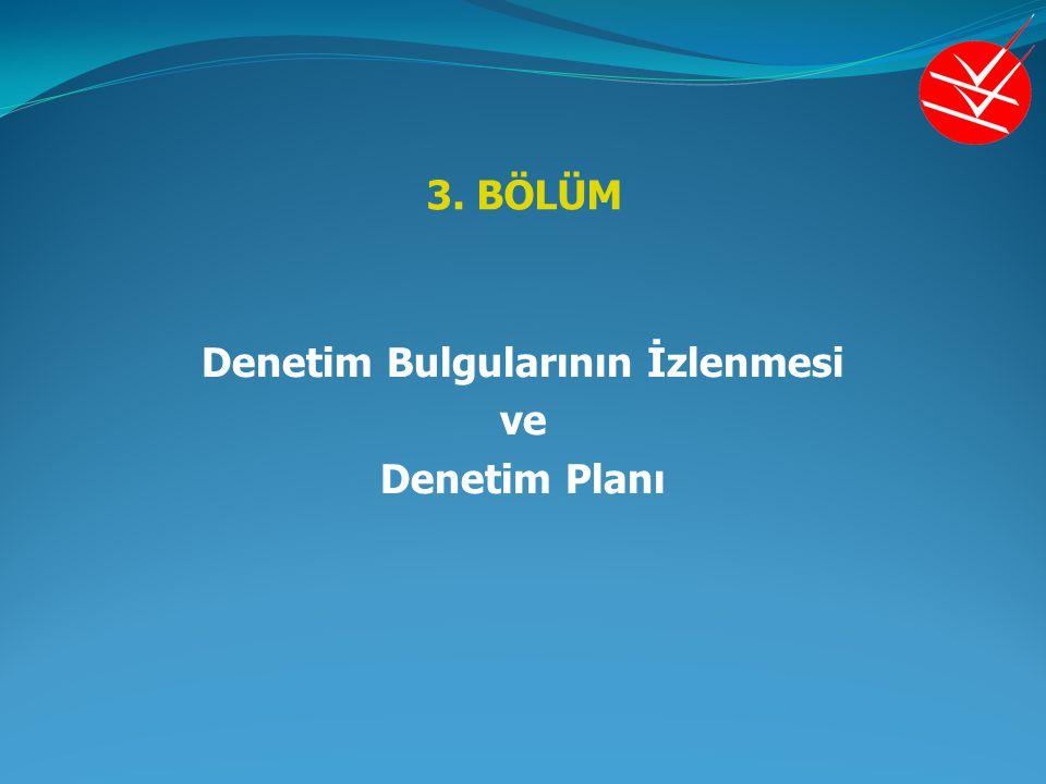 3. BÖLÜM Denetim Bulgularının İzlenmesi ve Denetim Planı