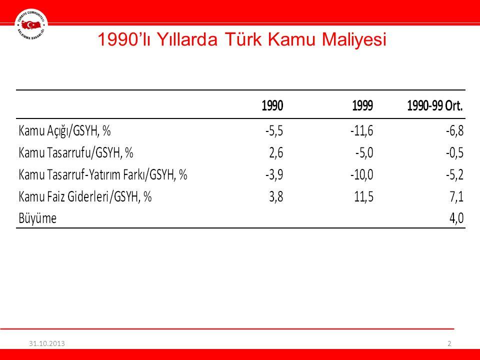 1990'lı Yıllarda Türk Kamu Maliyesi 31.10.20132