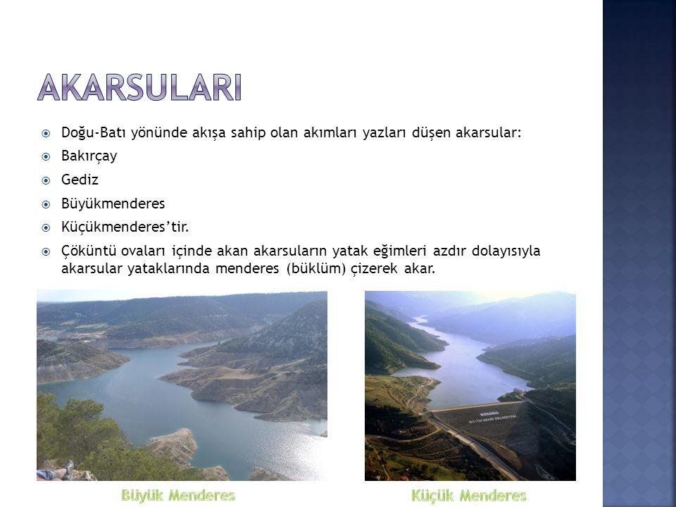  Ege Bölgesi doğal göl bakımından zengin değildir.