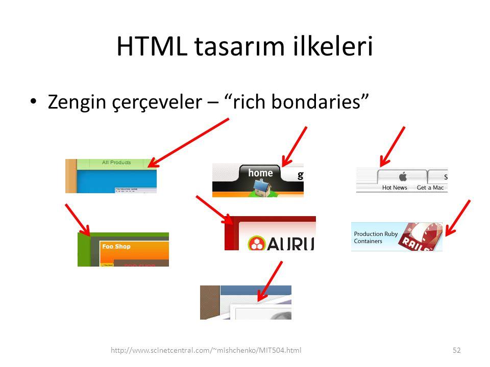 "HTML tasarım ilkeleri Zengin çerçeveler – ""rich bondaries"" http://www.scinetcentral.com/~mishchenko/MIT504.html52"