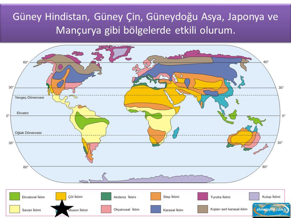 Güney Hindistan, Güney Çin, Güneydoğu Asya, Japonya ve Mançurya gibi bölgelerde etkili olurum.