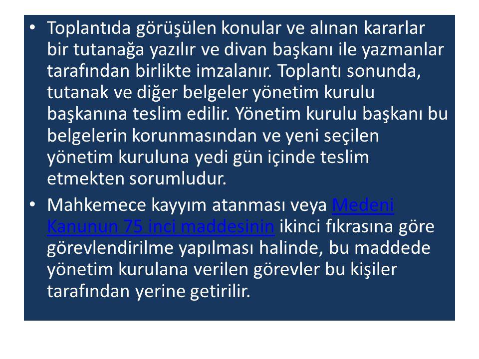 Dernek Adları Dernek adlarında; Türk, Türkiye, Milli, Cumhuriyet, Atatürk, Mustafa Kemal kelimeleri ile bunların baş ve sonlarına getirilen eklerle oluşturulan kelimeler İçişleri Bakanlığının izni ile kullanılabilir