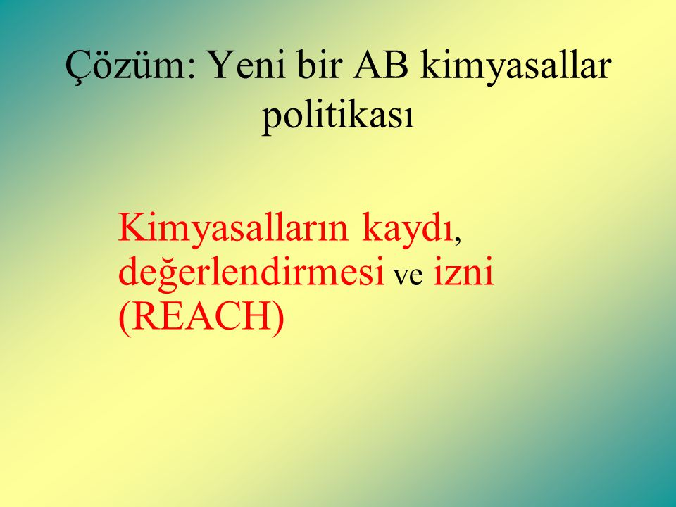 Türk kimya üreticilerinin büyüklükleri Kuruluslarin sayisi: about 6000 Main Enterprise Size : KOBIler Ref1.
