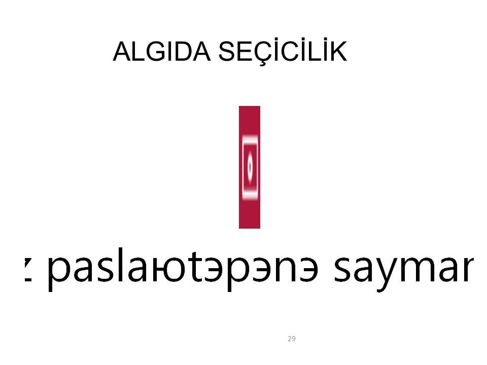 ALGIDA SEÇİCİLİK 29