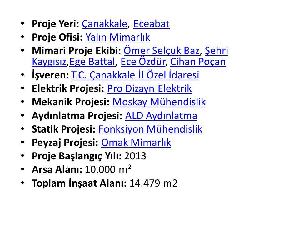 Proje Yeri: Çanakkale, EceabatÇanakkaleEceabat Proje Ofisi: Yalın MimarlıkYalın Mimarlık Mimari Proje Ekibi: Ömer Selçuk Baz, Şehri Kaygısız,Ege Batta