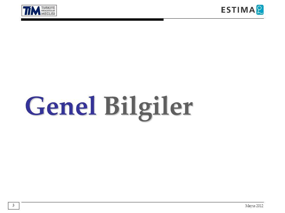 Mayıs 2012 3 Genel Bilgiler