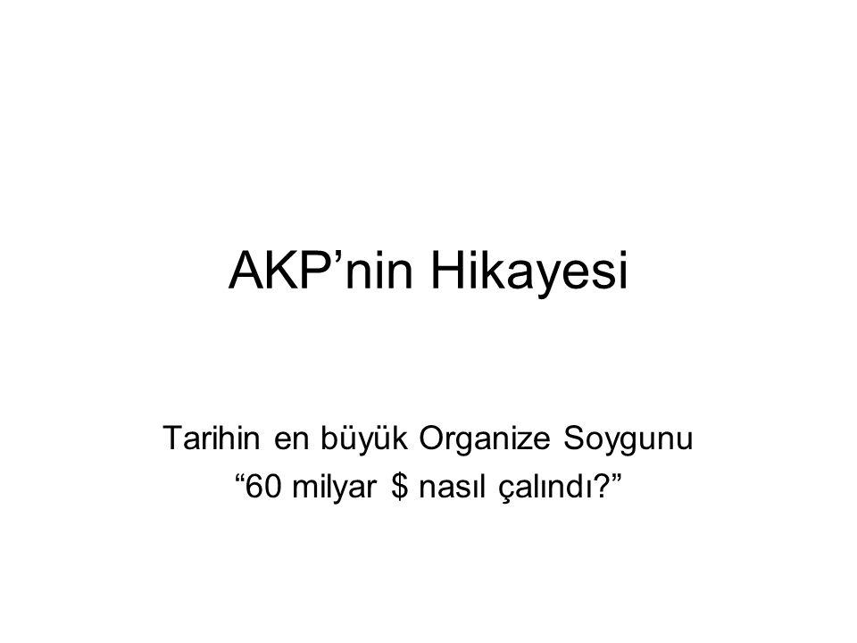 AKP'nin Hikayesi Tarihin en büyük Organize Soygunu 60 milyar $ nasıl çalındı