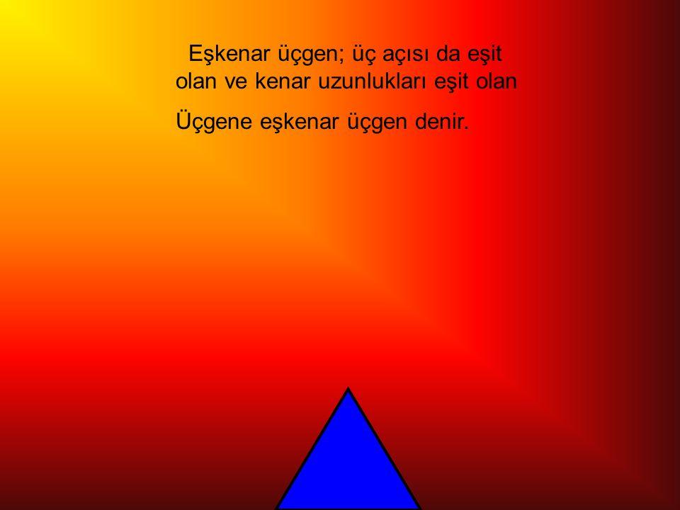 Dik açılı üçgen;bir açısı 90 derece olan üçgene dik açılı üçgen denir.